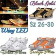 Shoes Wing LED - White Silver (Lampu Aslinya Warna Warni,Bukan 1 Warna)
